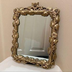 Vintage victorian floral mirror